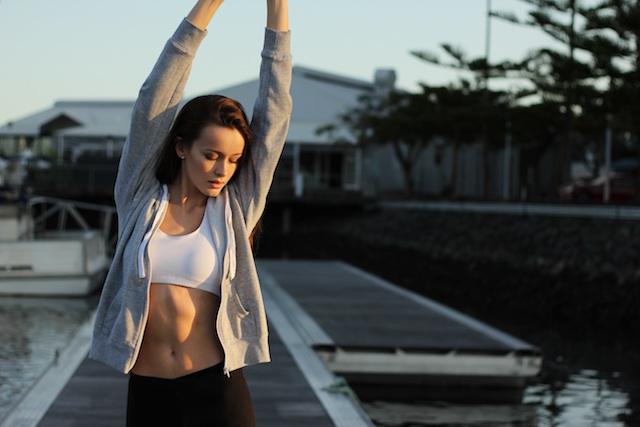 Frau sportlich gesund