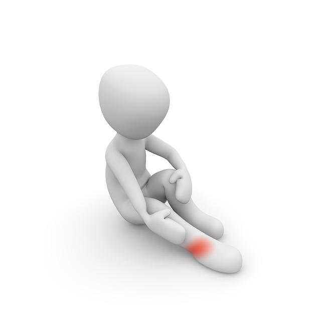 Schmerz am Bein Muskelkrampf
