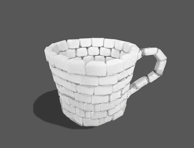 Kaffeetasse aus Zucker