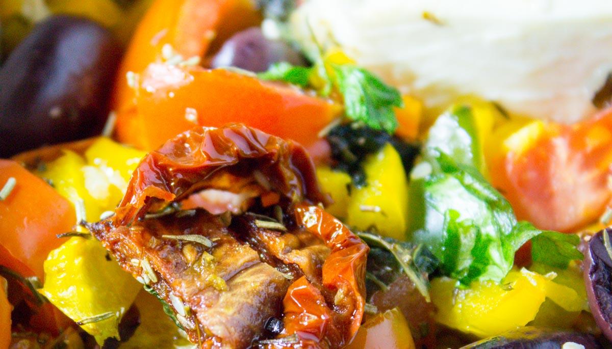 Überbackener Feta griechischer Art